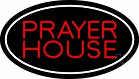 Red Prayer House LED Neon Sign