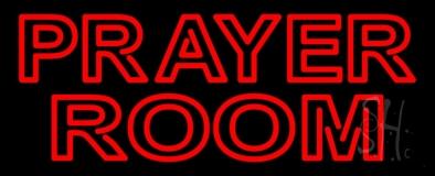 Red Prayer Room LED Neon Sign