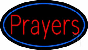 Red Prayers LED Neon Sign
