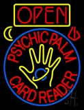 Red Psychic Palm Card Reader Open And Logo LED Neon Sign