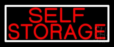 Red Self Storage White Border 1 Neon Sign