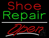 Red Shoe Green Repair Open LED Neon Sign