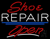 Red Shoe White Repair Open LED Neon Sign