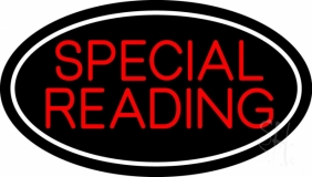 Red Special Reading White Border LED Neon Sign