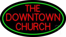 Red The Downtown Church LED Neon Sign