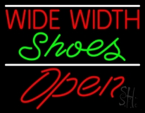 Red Wide Width Green Shoes Open LED Neon Sign