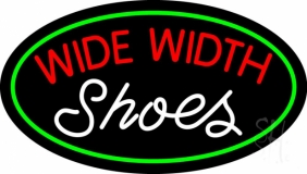 Red Wide Width White Shoes LED Neon Sign