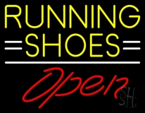 Running Shoes Open LED Neon Sign
