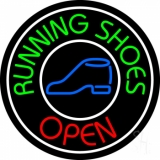 Running Shoes Open With Border LED Neon Sign