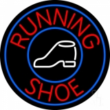 Running Shoes With Circle LED Neon Sign