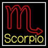 Scorpio Zodiac White Border LED Neon Sign