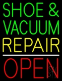 Shoe And Vacuum Repair Open LED Neon Sign