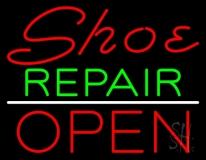Shoe Repair Open LED Neon Sign