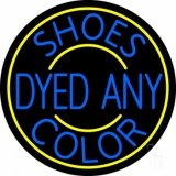 Shoes Dyed And Color With Yellow Border LED Neon Sign