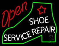 Shoe Service Repair Open LED Neon Sign