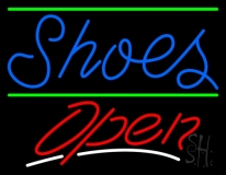 Shoes Open With Line LED Neon Sign