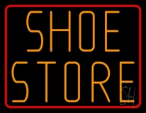 Shoe Store With Red Border LED Neon Sign
