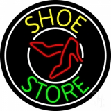 Shoe Store With White Border LED Neon Sign