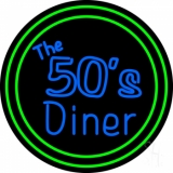 The 50s Diner Circle LED Neon Sign