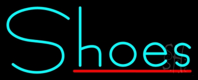 Turquoise Shoes Red Line LED Neon Sign