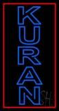 Vertical Blue Kuran LED Neon Sign