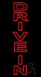 Vertical Double Stroke Drive In LED Neon Sign