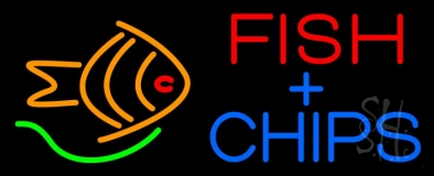 Fish Plus Chips LED Neon Sign