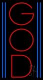 Vertical Red God LED Neon Sign