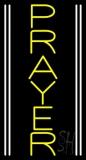 Vertical Yellow Prayer LED Neon Sign