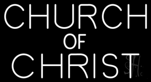 White Church Of Christ LED Neon Sign