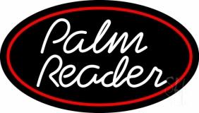 White Cursive Palm Reader LED Neon Sign
