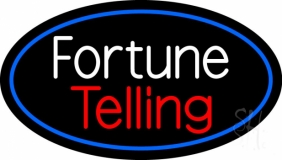 White Fortune Red Telling LED Neon Sign