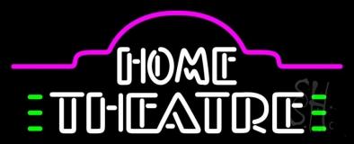 White Home Theatre LED Neon Sign