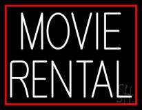 White Movie Rental LED Neon Sign