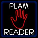 White Palm Reader Blue Border LED Neon Sign