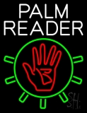 White Palm Reader With Logo LED Neon Sign