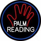 White Palm Reading Border LED Neon Sign