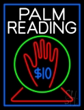 White Palm Readings With Logo LED Neon Sign