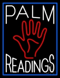 White Palm Readings With Palm LED Neon Sign