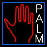 White Palm With Logo LED Neon Sign