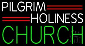 White Pilgrim Holiness Green Church LED Neon Sign