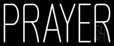 White Prayer LED Neon Sign
