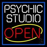 White Psychic Studio Red Open Blue Border LED Neon Sign
