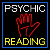 White Psychic Yellow Reading Block Palm LED Neon Sign
