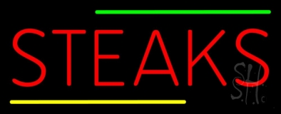 Red Steaks LED Neon Sign