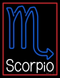 White Scorpio Zodiac LED Neon Sign