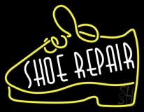 White Shoe Repair Yellow Shoe LED Neon Sign