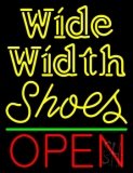 Wide Width Shoes Open LED Neon Sign