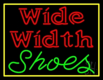 Wide Width Shoes With Border LED Neon Sign