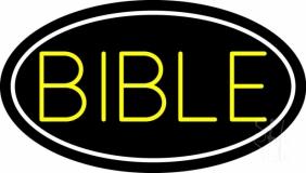 Yellow Bible LED Neon Sign